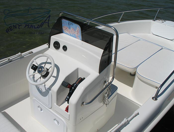 Elba noleggio barche Arkos 507 console e prendisole