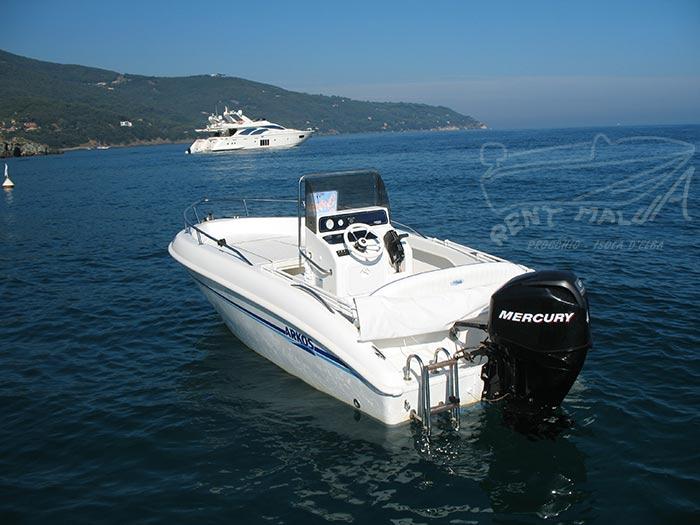 Elba noleggio barca arkos 537 Poppa con motore Mercury