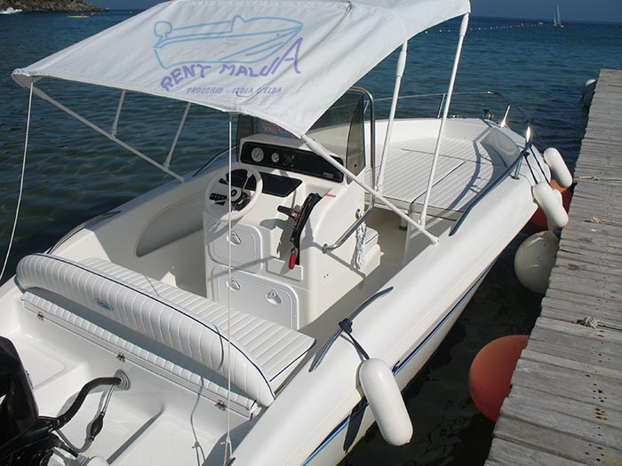 Elba noleggio barca arkos 537 tendalino parasole