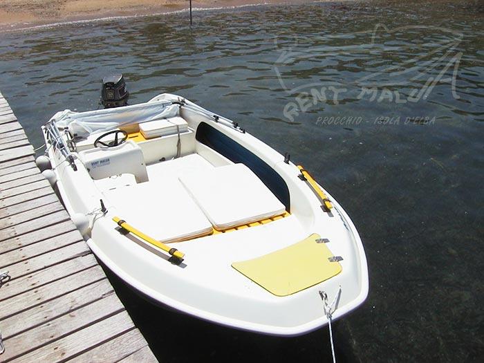 Elba Noleggio barca Molinari con motore 25 hp