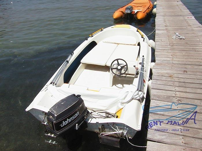 Elba noleggio barca Molinari con prendisole