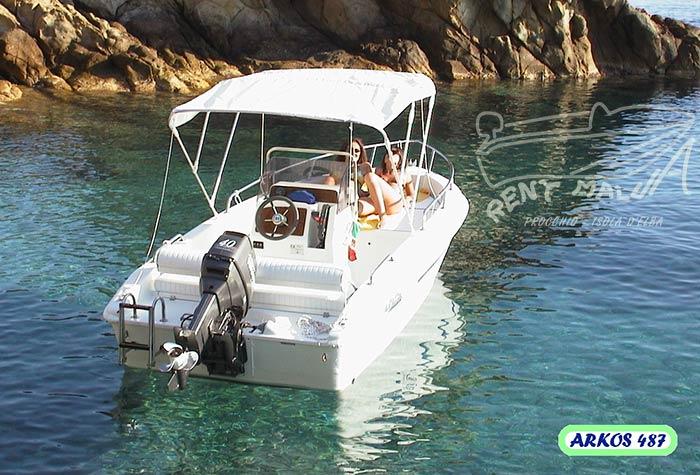 Elba noleggio barche Arkos 487 con tendalino parasole