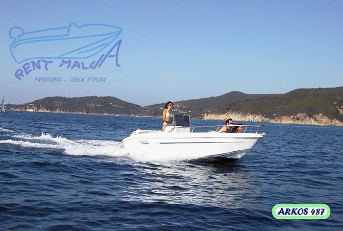 Elba noleggio barche Arkos 487 in navigazione