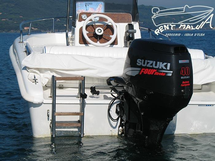 Elba noleggio barche Arkos 487 motore Suzuki DF40