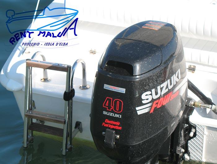 Elba noleggio barche Arkos 487 scaletta e motore