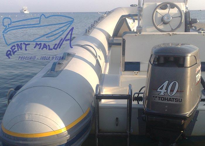 Elba noleggio gommone Bwa Tohatsu 40 hp