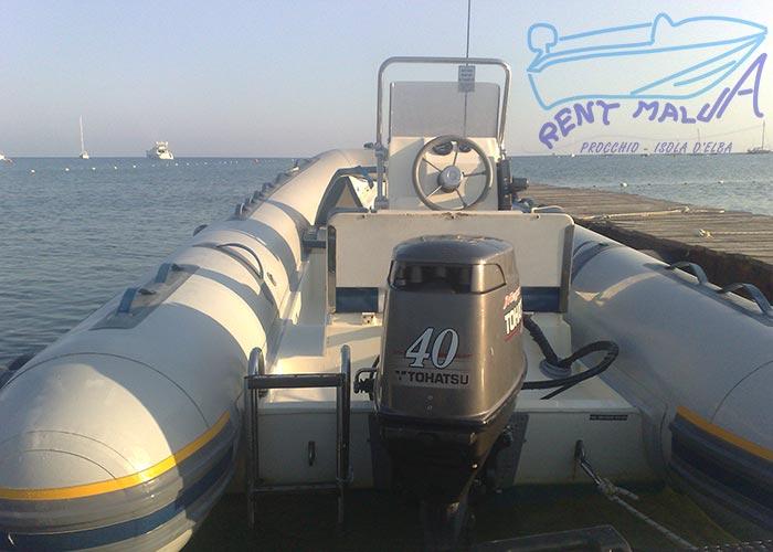 Elba noleggio gommone con motore 40 hp